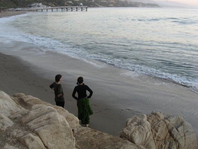 Me and my sister in Malibu, during a visit with my grandparents (who are also awesomely supportive and sex-positive).